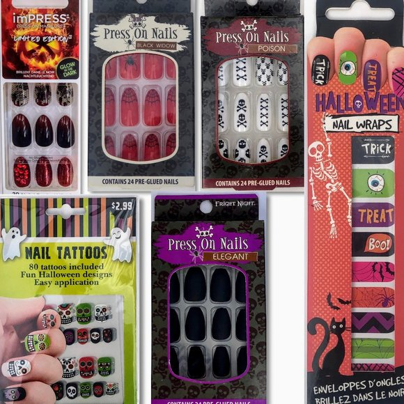 Kiss Makeup 6 Halloween Press On Nails Stickers Poshmark